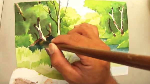 watercolor painting with westcoast family