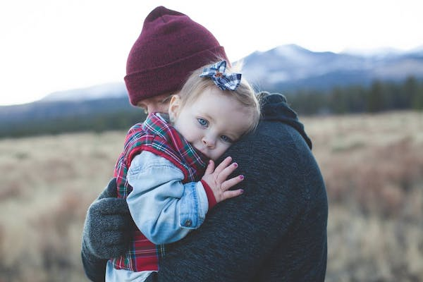 westcoast family hugging in homeschool